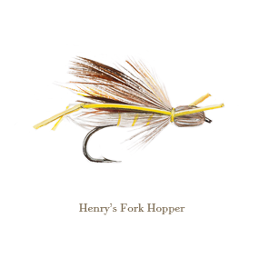 Henry's Fork Hopper, original watercolour painted by L.C. Smith