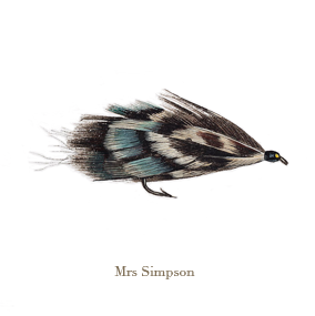 Mrs Simpson, original watercolour painted by L.C. Smith