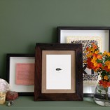 Mrs Simpson framed and arranged in situ